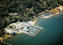 Aerial view of Tomales Bay Resort and Marina property and Tomales Bay gallery image